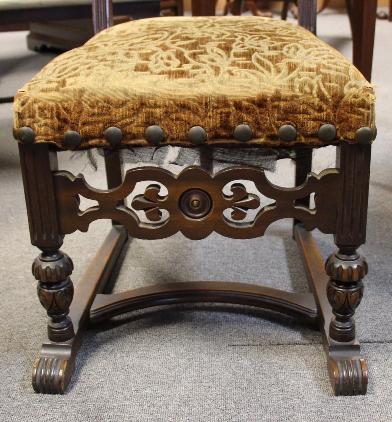 tonawanda woodworks - jacobean dining room set circa 1920's